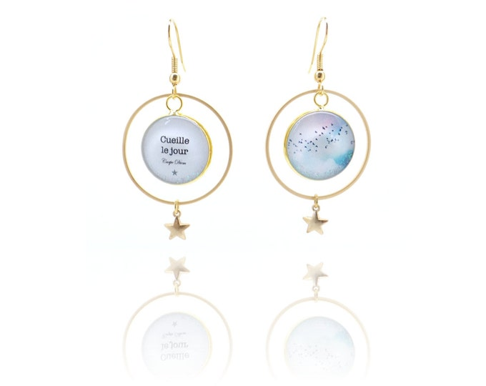 The air AR5 (clouds) resin earrings / Valentine's day
