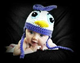 Crochet Daisy Duck Hat, Size 6 Month, 9 Month, 12 Month, 1 year, Mickey Mouse Clubhouse, Disney Junior, Ready To Ship