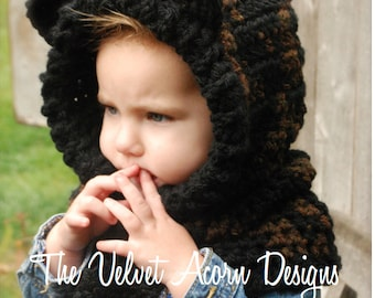 Crochet PATTERN-The Loxin Leopard Cowl (12/18 months, Toddler, Child, Adult sizes)