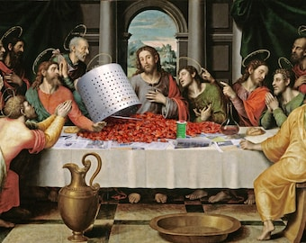 Last Supper # 1  8 x 10 - T Shirt Iron On Transfer - Crawfish Boil