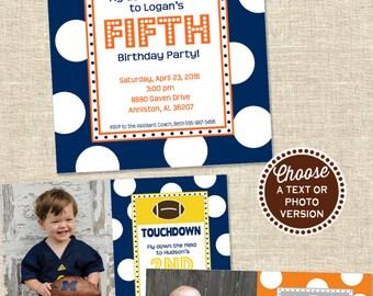 Football Party Invitation | Football Birthday Invitation | Football Invitation | Sports Party Printable Invitation | Amanda's Parties To Go