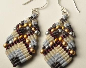 beaded buddha earrings