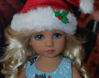 OOAK Christmas Scottie dress for Effner Little Darling, Avery and similar 14 inch dolls