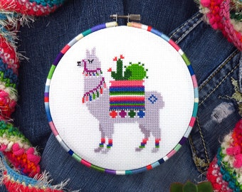 Llama Cross Stitch Pattern, Alpaca Cross Stitch, Llama Embroidery, Animal Cross Stitch, Cute Cross Stitch, Llama Needlework, Llama Pattern