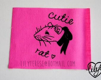 SALE Cutie Rat Patch