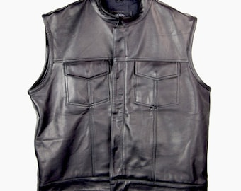 Black Oak Motorcycle Blank Vest