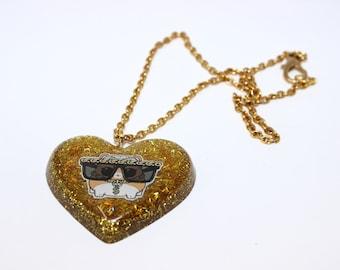 MC HAMMY gold resin pendant
