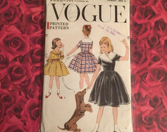 50's Vintage Vogue Girls Pattern