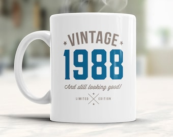 30th Birthday, 1988 Birthday, 30th Birthday Gift, 30th Birthday Idea, Vintage, 1988, Happy Birthday, 30th Birthday Present for 30 year old!