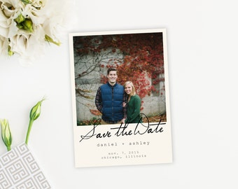 Custom image Style Save The Date Postcard, Card, Magnet
