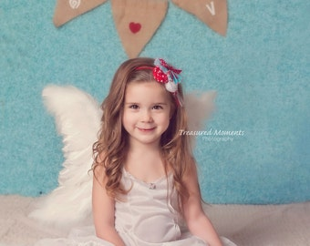 SALE! Angel Wings Beautiful Flexible Wedding Flower Girl Costume Pageant Baptism Prof Photo Prop Cupid Child/Adult FREE halo