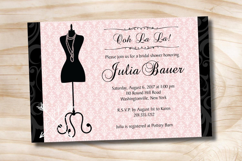 OOH LA LA Vintage Mannequin Bridal Shower Bachelorette Party