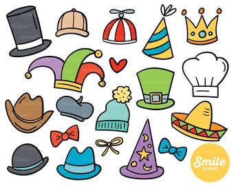 Doodle Hats Clipart Illustration for Commercial Use | 0118