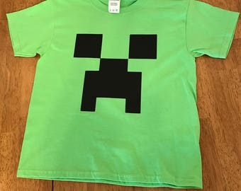Minecraft Creeper Shirt***FREE SHIPPING***