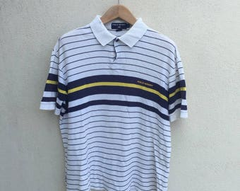 Vintage Polo Sport/Ralph Lauren/Stripe Polo Shirt