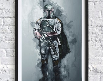 Star Wars - Boba Fett 'Watercolor' A4 Print