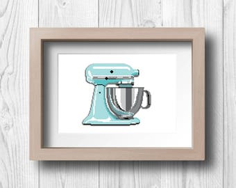 Pixel Kitchen Mixer - Printable Wall Art