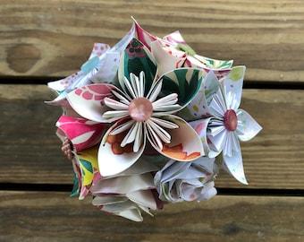 Pretty in Pink Paper Flower Bouquet