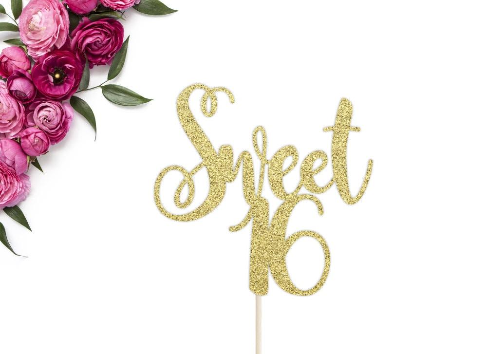 Sweet 16 Cake Topper Sweet Sixteen Cake Topper 16th