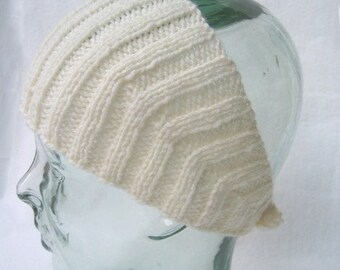 Wool Head Wrap Winter White - Calorimetry head-wrap headband, ear warmer