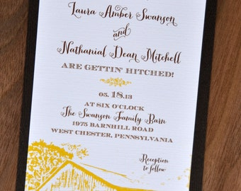 Casual Barn Wedding Invitations