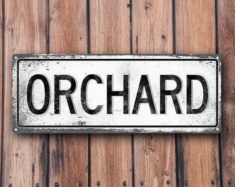 ORCHARD Metal Street Sign, Vintage, Retro    MEM2020