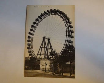 La grand roue Paris ferris wheel postcard