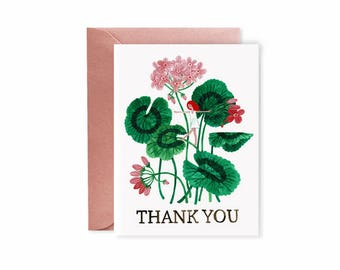 Geranium THANK YOU card
