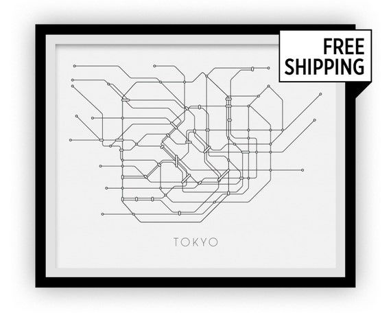 Tokyo Subway Map Poster