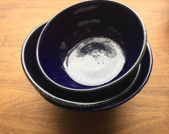Medium Bowls - Handmade Ceramics + Pottery - Cobalt Blue - 5115Design