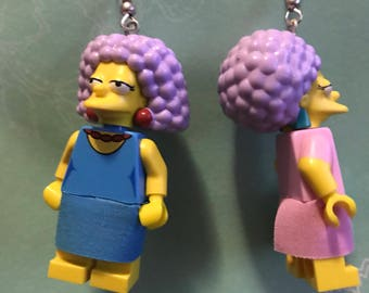 Patty and selma lego earrings