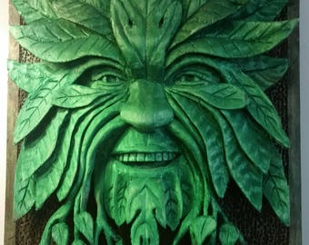 Greenman Wood Carving