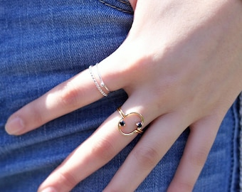 CLOUD NINE Ring | gemstone stacking ring | sterling silver ring