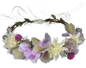 Lavender Floral Halo