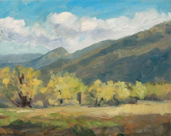 Taos Mountain Springtime - New Mexico - Original Oil Landscape Painting
