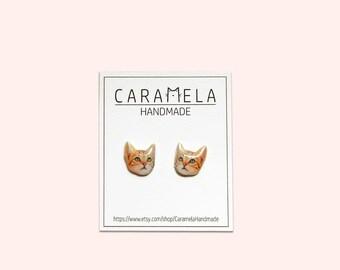 Cat Earrings Kitten Earrings Cat Stud Earrings Cat Jewelry Kitten Jewelry Cat lover Gift Idea