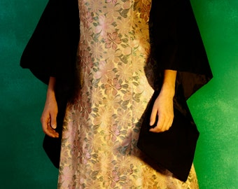 Golden kimono style flower dress