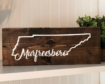TN Home Town Wood sign. Tennessee Home Town Wooden sign. Tennessee State wood sign. TN Home Decor. TN Rustic wooden sign.