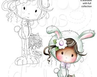 Easter Bunny -Winnie Sugar Sprinkles - Digital Stamp download