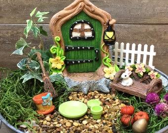 Fairy Garden Door & Accessories, Easter Basket Filler, Kids craft, Fairy Garden Kit, Garden Party Favor, Build you own fairy garden