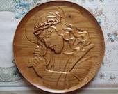 Wood Carved Jesus Wall Pl...