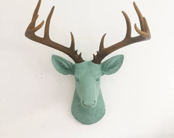ANY COLOR Deer Head Wall Hanging // Antler Rack // Animal Wall Mount // Faux  Taxidermy // Cabin Decor // Stag Head / Rustic Decor / Wall Art