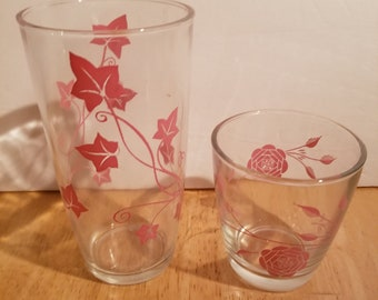 Pair of Vintage Sour Cream Glasses