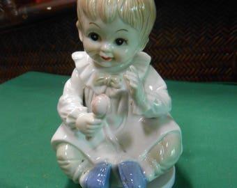 Musical BOY Porcelain Figure