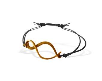 Elegant Gold Infinity String Bracelet, BFF Handcrafted Bracelet, Special Gift  for Women, Minimal Bracelet for Her, Unique Design, Porpe