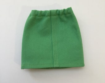 """14.5"""" Doll Clothes - Spring Green Twill Skirt - To fit Wellie Wishers and Hearts for Hearts dolls"""