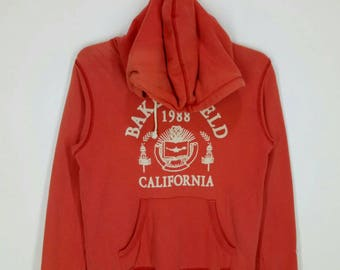 Rare!! CHAMPION hoodies (women) spell out nice design pull over jumper large size