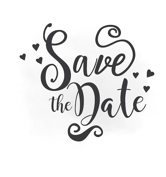 save the date svg clipart wedding annuncment save the date rh etsy com clipart save the date save the date clip art christmas