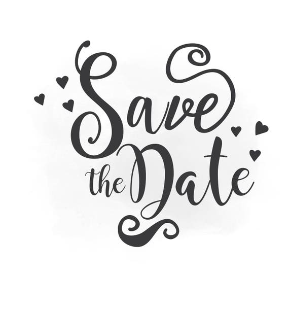 save the date svg clipart wedding annuncment save the date rh etsy com save the date calendar clip art clipart save the date png