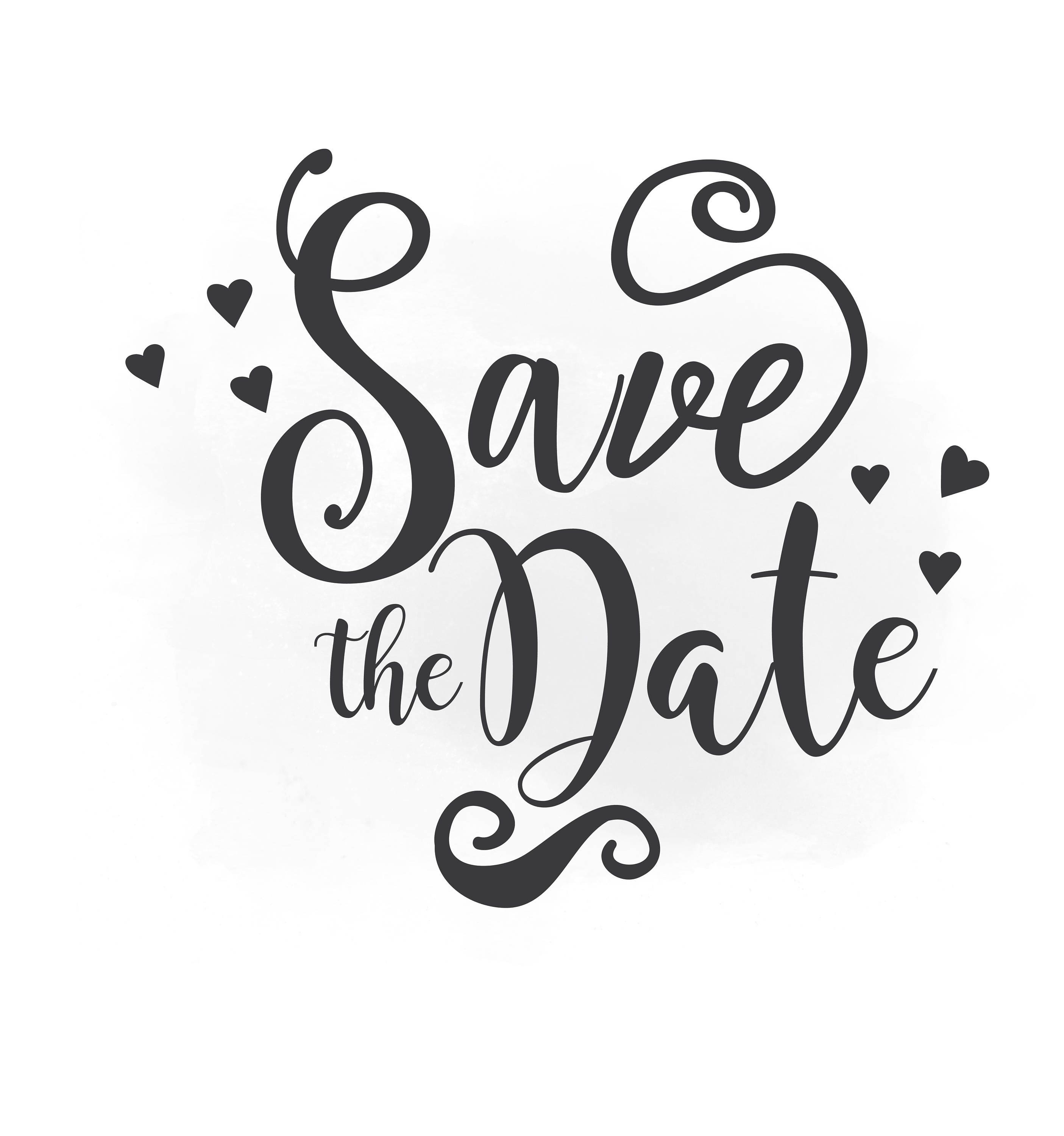 Save the date svg clipart wedding annuncment save the date for Save the date vector